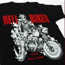 「HELLBIKER」 コラボレーションTシャツ - M